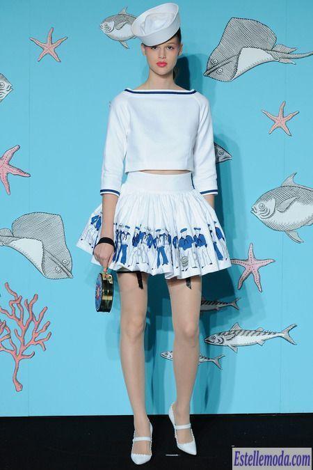 Морской стиль в одежде 2014 – Olympia Le-Tan