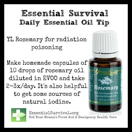 Use Young Living rosemary for radiation poisoning.