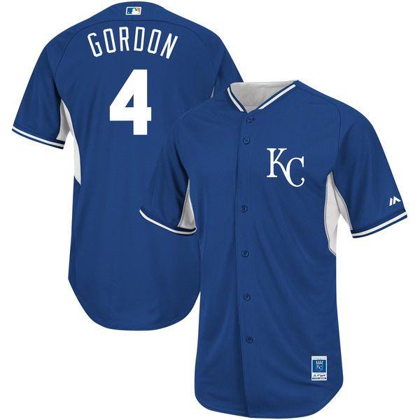 Alex Gordon Kansas City Royals Majestic On-Field Batting Practice Cool Base Player Jersey - Light Blue - $99.99