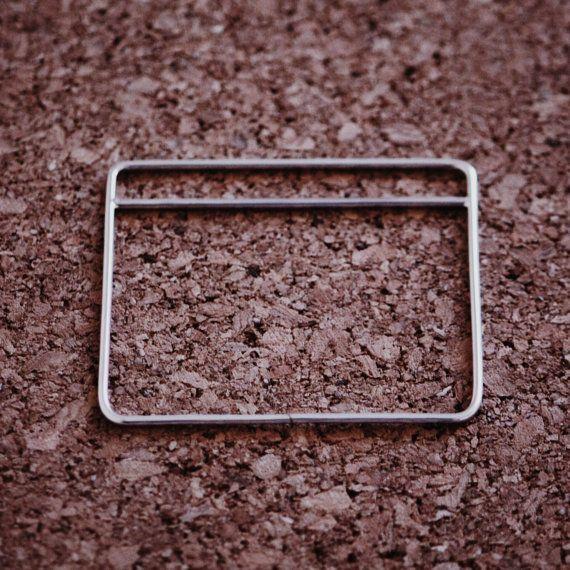 Geometric bracelet dainty rectangle bracelet sterling silver
