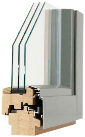 окно Аlu Wood