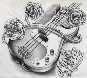 Dessin guitare electrique_2