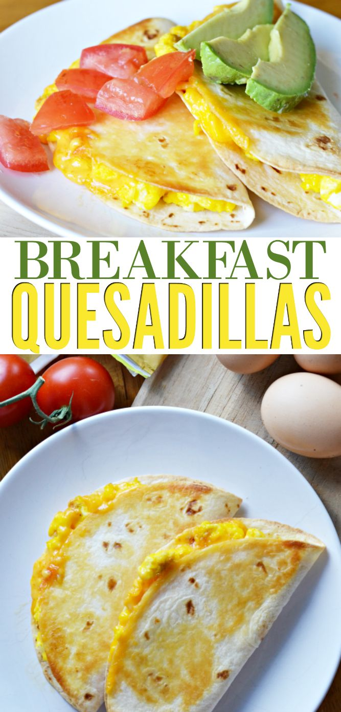 Make breakfast quesadillas for a quick, warm meal to enjoy even on the busiest mornings!