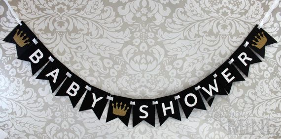 Little Prince Baby Shower Banner in Black White & by LovinglyMine, $20.00
