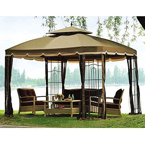 Replacement Canopy For 2010 Biglots Bay Window Gazebo (Fabric Part Only) By  Replacement.