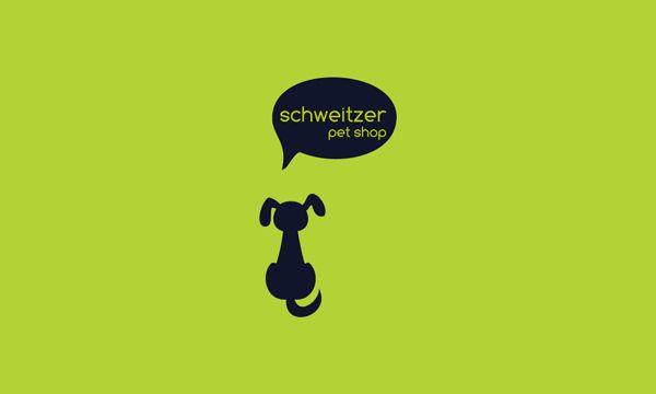Brand Identity Pet Shop Schweitzer by Wagner Rosa, via Behance