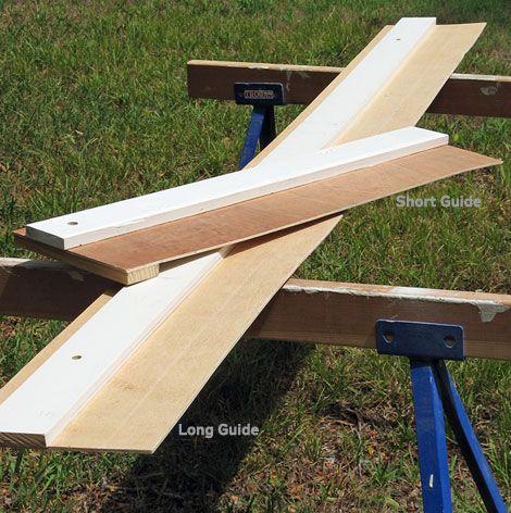 Простое приспособление для ровного раскроя листовых материалов (How to Build a Simple Circular Saw Guide for Straighter Cuts)