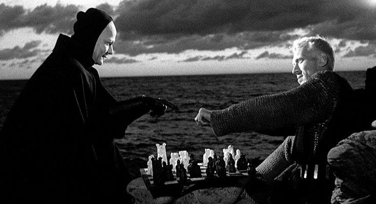 Ingmar Bergman's The Seventh Seal - knight playing chess with Death