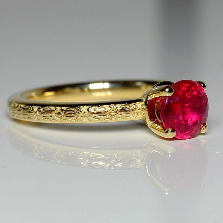 Inel din aur, cu rubin II Cod produs: i71618Rb