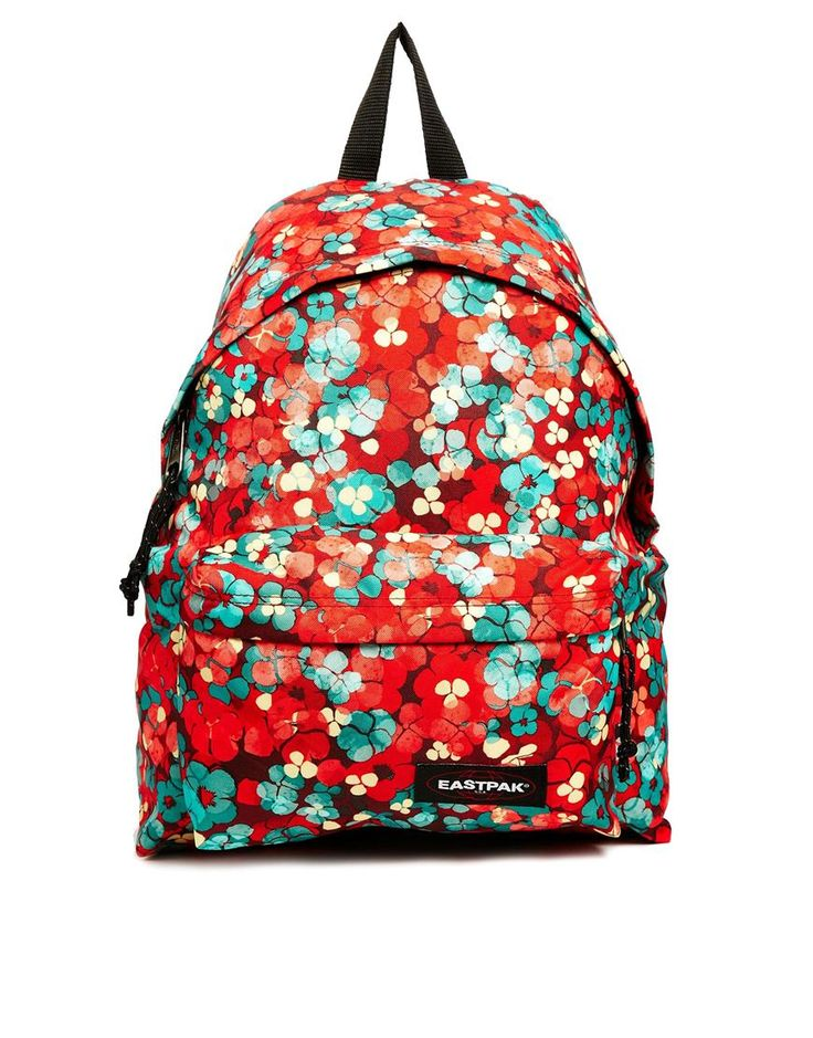 Image 1 of Eastpak Padded Pak'r With Red Floral Print