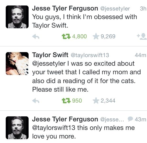 Never change, Tay. *proud sigh* Never change.