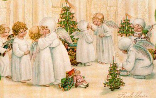 Pauli Ebner (Austrian 1873-1949) - Vintage Christmas Postcard