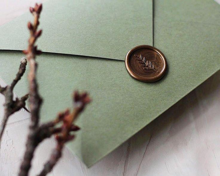 """Branch Wax Seal / Sigiliu ceara """"Crenguță"""" © PAPIRA invitatii de nunta personalizate"""