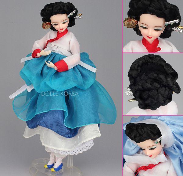 Korean Doll Wearing #Hanbok - 하늘정인