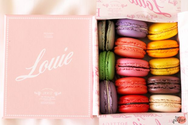 box of #macarons :: Bottega Louie, Los Angeles