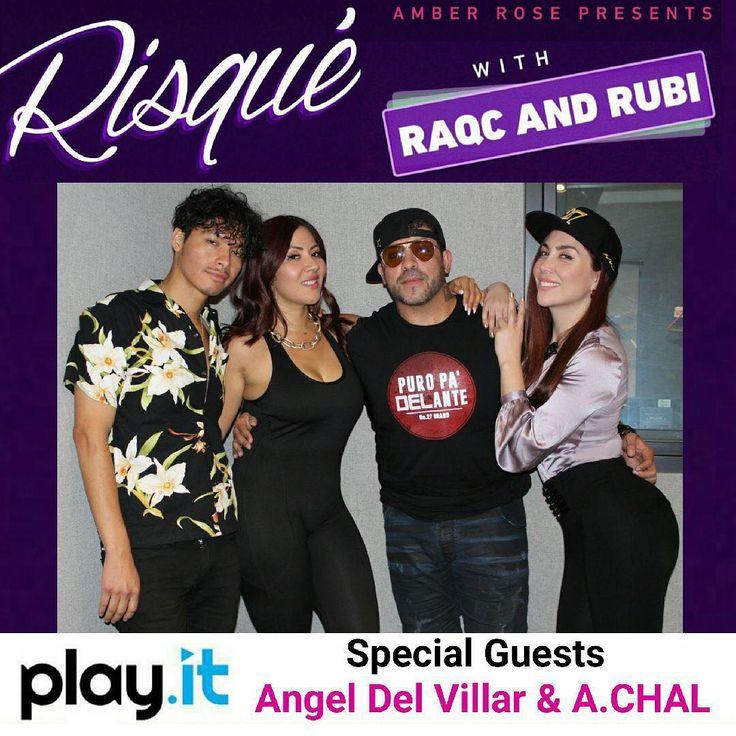 Today on Amber Rose Presents: RISQUÉ with RaqC and Rubi, RaqC and Rubi bring in Angel Del Villar CEO of Del Records 😍 Tune in #DelRecords #RaqC #RubiMolina #AngelDelVillar #RisqueRaqCRubi #AmberRose