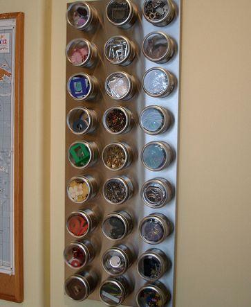 Magnetic tin storage