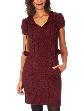 Vestido de punto con capucha y borlas Mujer 17,99€ Vestidos cortos Vestido de punto muy calentito, ideal para el invierno. - Capucha - Borlas - Mangas estilo globo - Cuel http://www.kiabi.es/vestido-de-punto-con-capucha-y-borlas-mujer_P388287#C388285