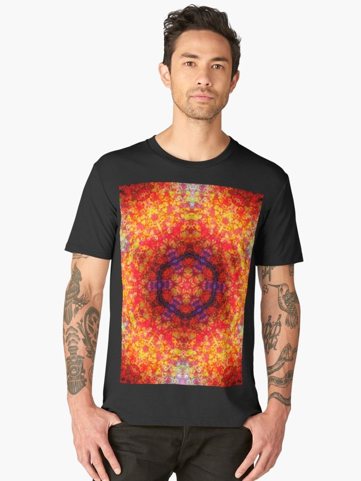 Red energy by Silvia Ganora  #tee #tshirt #tees #tshirts #apparel #clothing #premiumtee #redbubble #mandala #psychedelic #red #energy #energetic