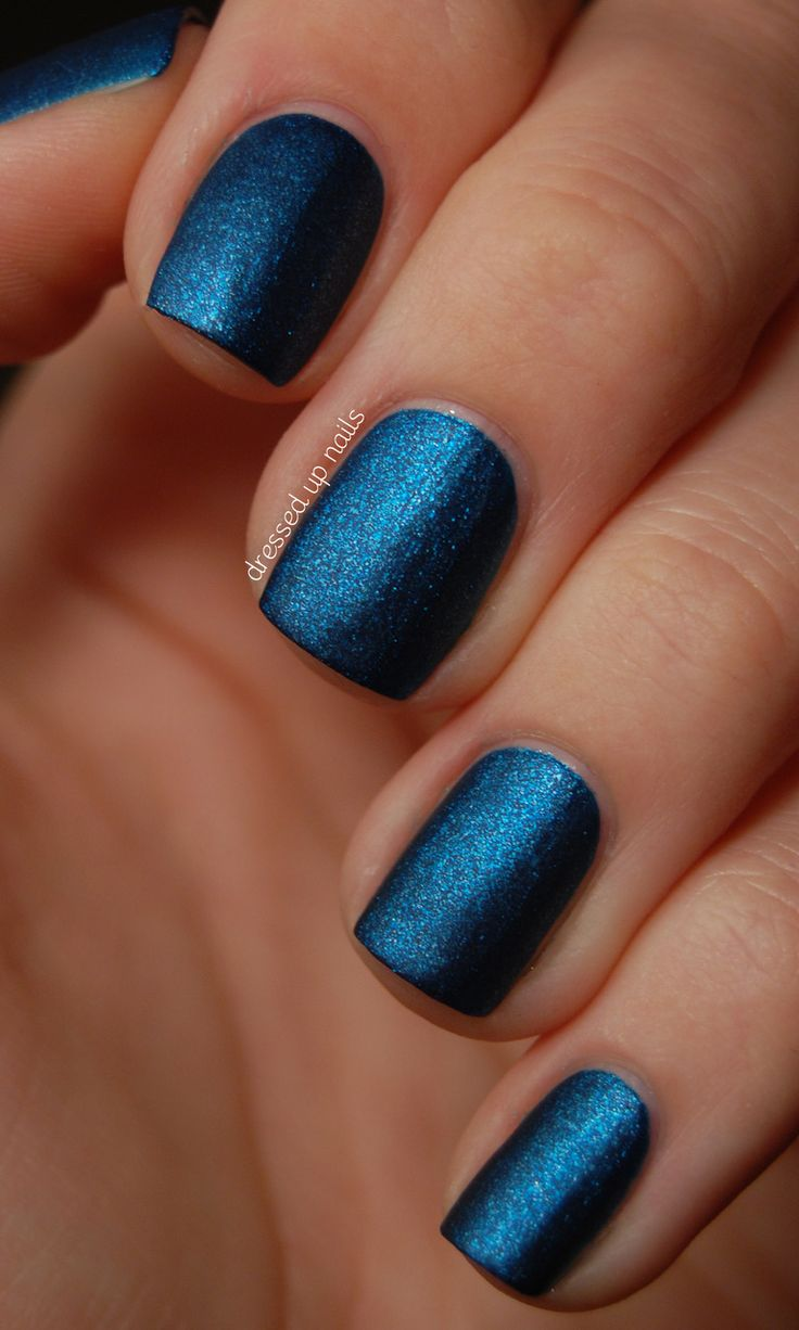 Best 25+ Blue Matte Nails Ideas On Pinterest