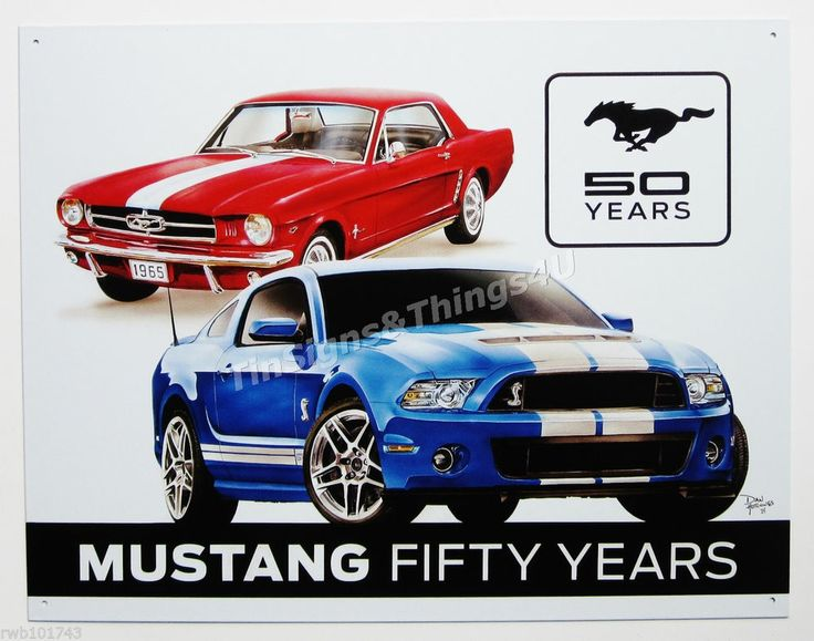Details about ford mustang fifty years tin sign shelby vtg for Garage ford 59