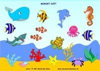 Morský svet – Slovná zásoba, pozornosť, reč a priestorová orientácia - farebná predloha z ABC