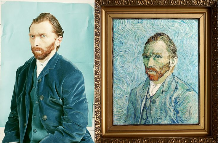 Lithuanian artist Tado Cern, took a photograph of his friend and turned him into Van Gogh.