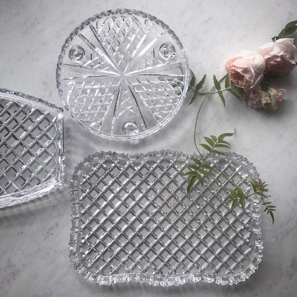 Vintage Crystal Tray