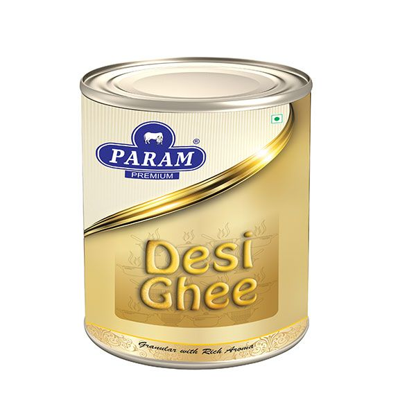100% Organic param desi Ghee made from cow milk; Heat Stable, contains fat soluble nutrients & vitamins that help our bodies maintain good health;