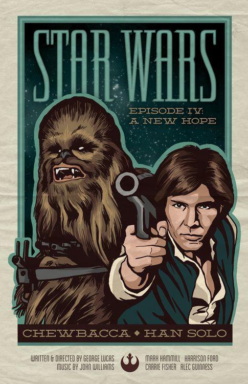 Star Wars: Chewbacca & Han Solo  Created by Julia Williams