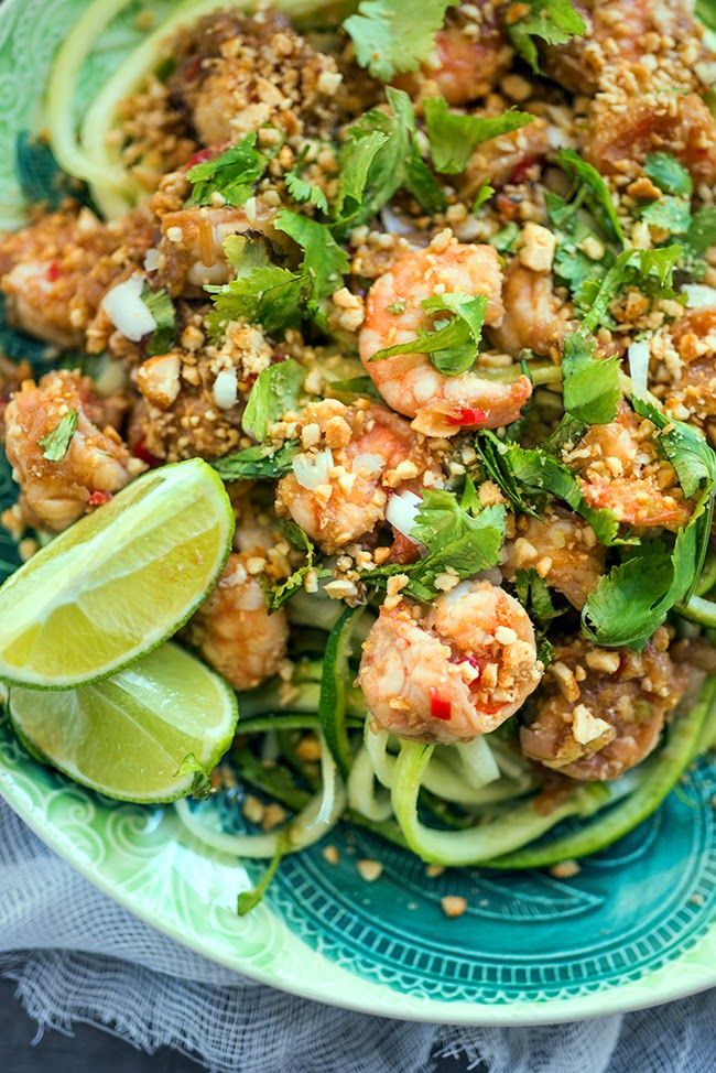 Courgette noodle Pad Thai. 16 syns per recipe as is. Reduce to 1tsp oil and use 2tsp sweetener instead of sugar to lower syns (I tried this and it works).