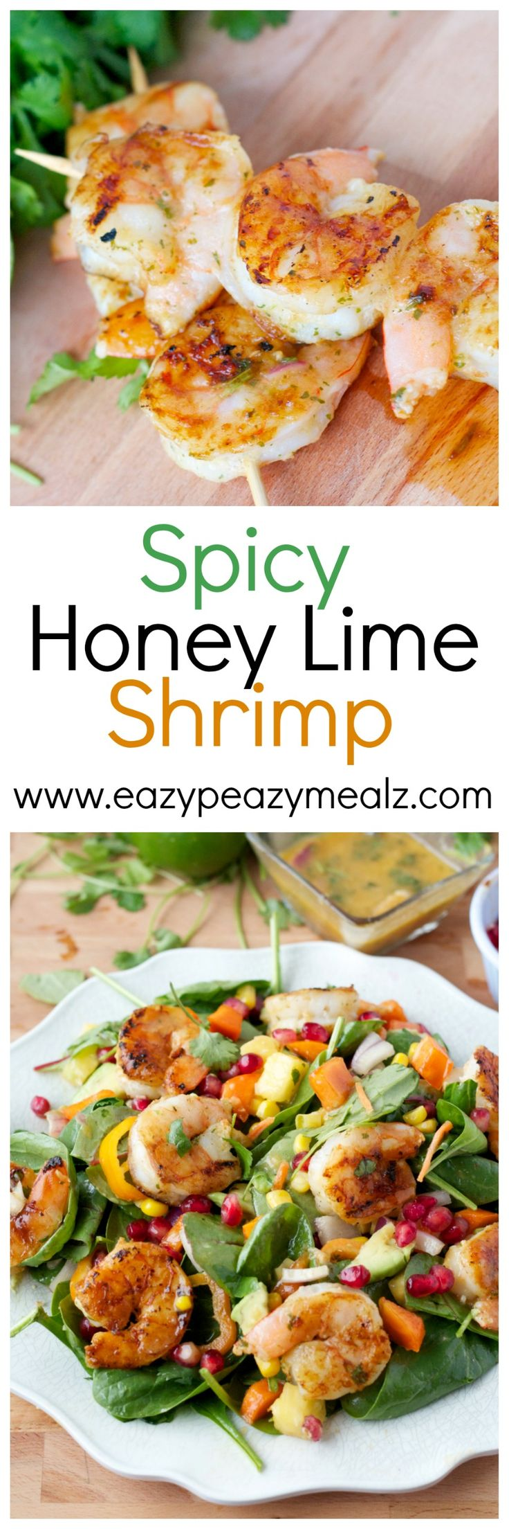 Spicy Honey Lime Shrimp: A perfect tangy and sweet marinade with just the right amount of spice. Perfect for salads or game day! So versatile. - Eazy Peazy Mealz-use the George Forman grill
