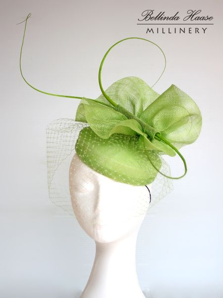 Lime Green Hat worn to Melbourne Cup by BELLINDA HAASE #millinery #hats #HatAcademy