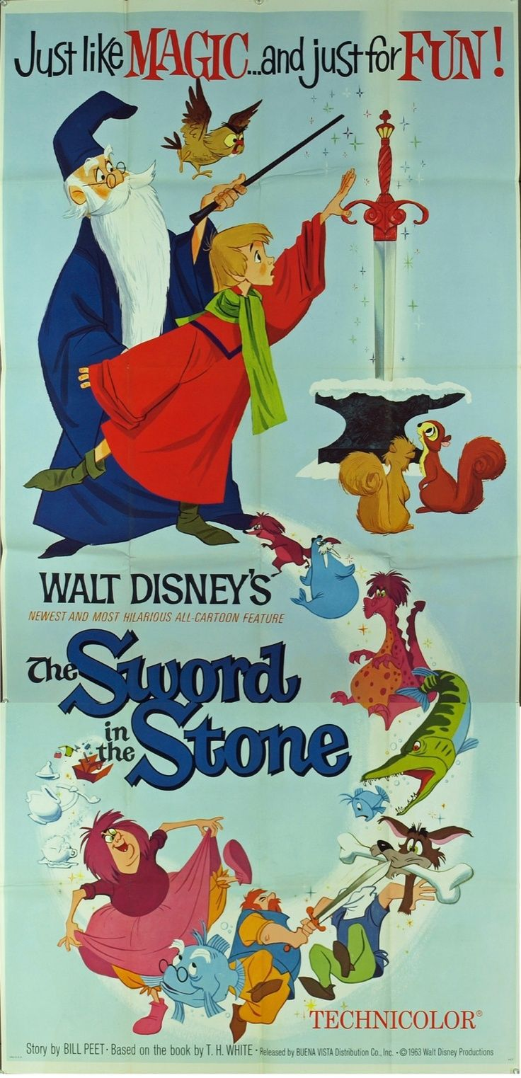 Sword in the Stone: the last animated Disney movie to come out before Walt Disney's death :(: