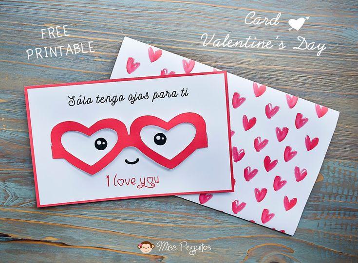 diy tarjeta san valentin valentine's card