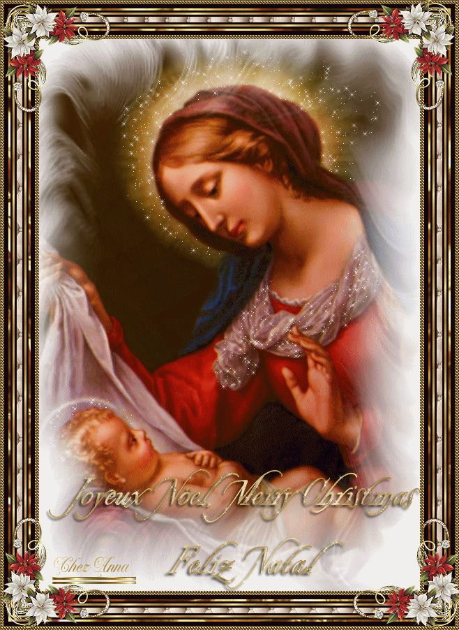 Marie et l'enfant Jésus THE  TRUE MEANING OF CHRISTMAS IS THAT BABY JESUS WAS BORN...XOXO BELLA DONNA