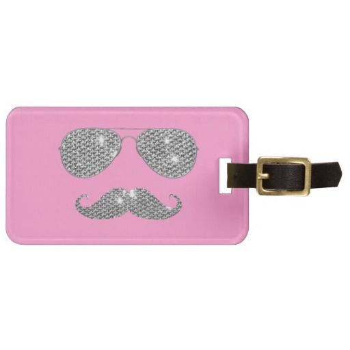 Funny Diamond Mustache And Glasses On Cute Pink  Background A cool retro design with a geek 80s funny  mustache and glasses on girly pink  background. The perfect humor gift idea for him or for her.