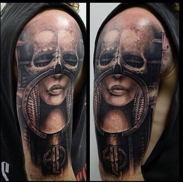 """""""HR Giger Brain Salad Surgery by Sam Nugent, Victims of Ink, Melbourne AUS"""" by thepunce in tattoos"""