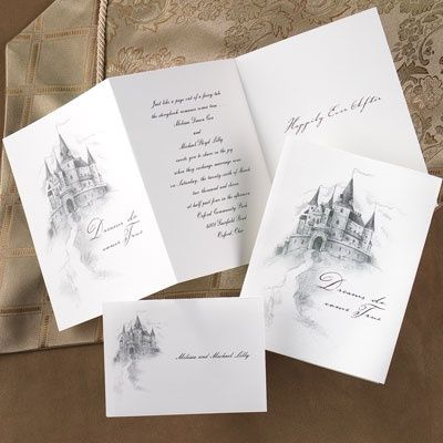 Hily Ever After Tri Fold Invitation Fairytale Wedding