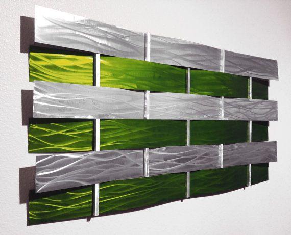 Modern Abstract Metal Wall Art Sculpture by AbstractMetalDesign