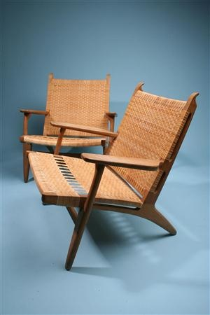 Hans Wegner's woven approach to the seat/back seen in the Kline & Klismos from Ancient Greek furniture