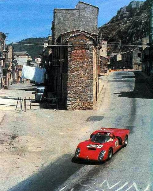 Alfa Romeo At The Targa Florio, Early 70's.