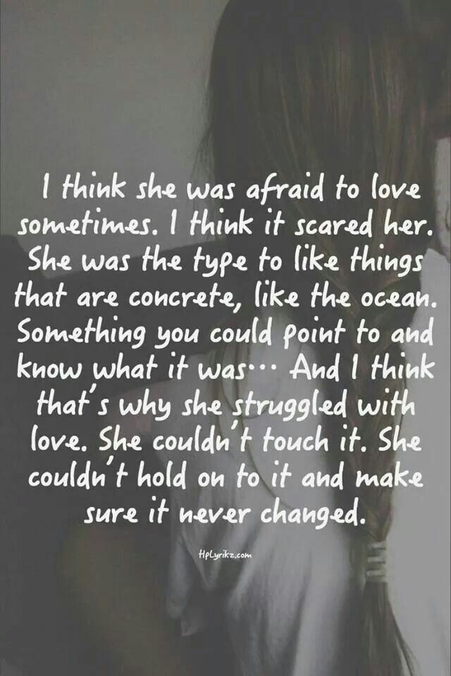 Quotes About Being Afraid To Fall In Love. QuotesGram