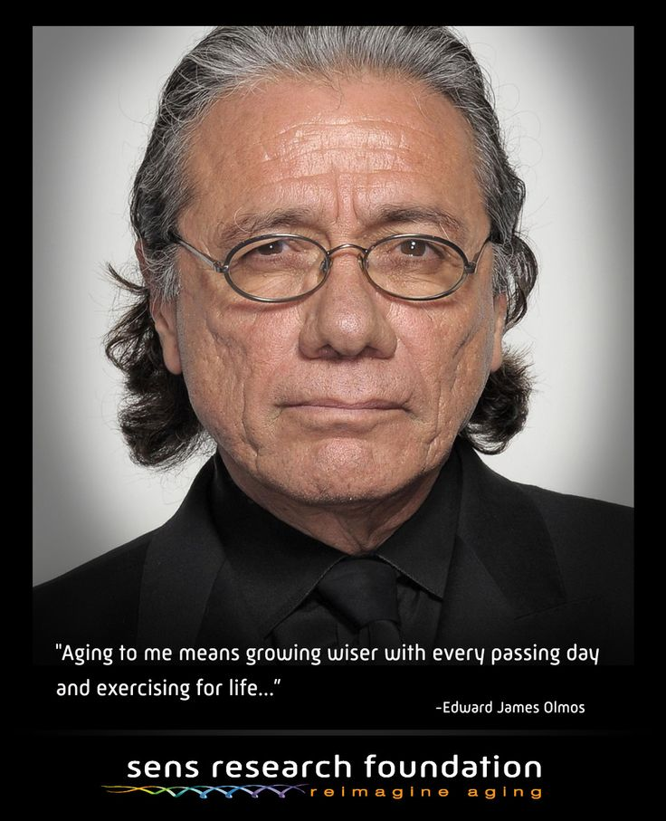 What does aging mean to Edward James Olmos?