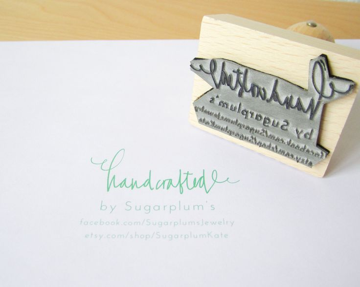 "Custom Rubber Stamp - Personalized Handcafted By Your Shop laser cut 2 1/2"" rubber stamp with hand lettering. 35.50, via Etsy."