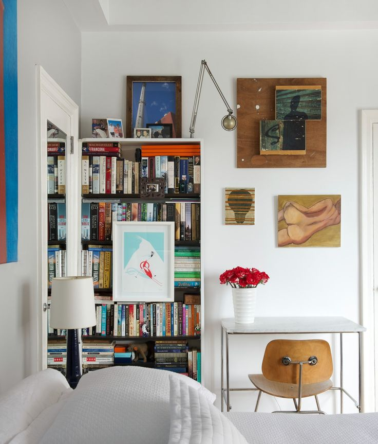 West Village Apartment NYC Bedroom Home Office Design