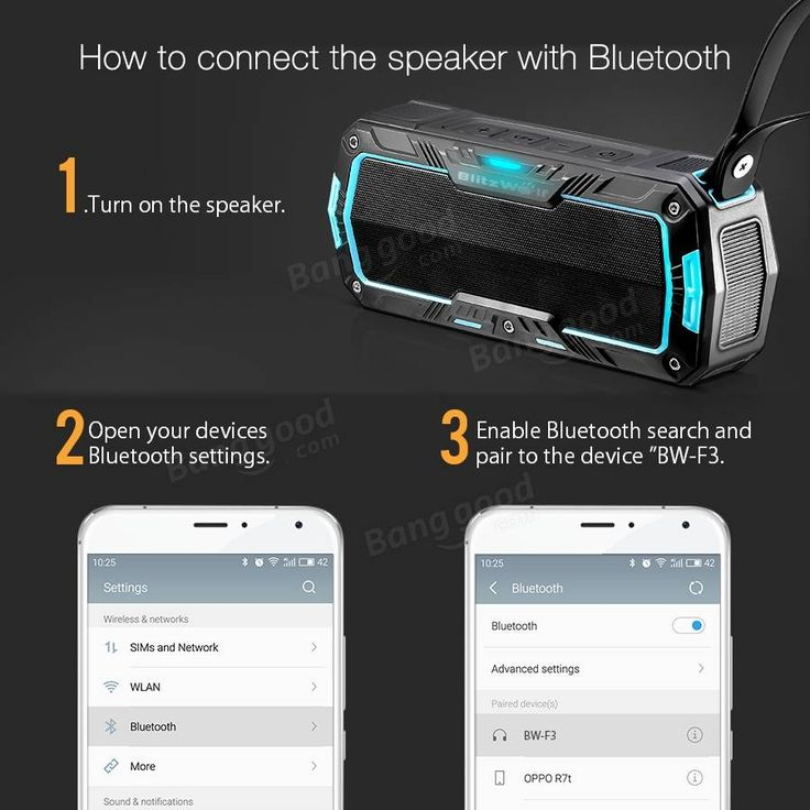 BlitzWolf® BW-F3 IPX5 Water-resistant 2*5W Outdoor Sport Bluetooth Speaker