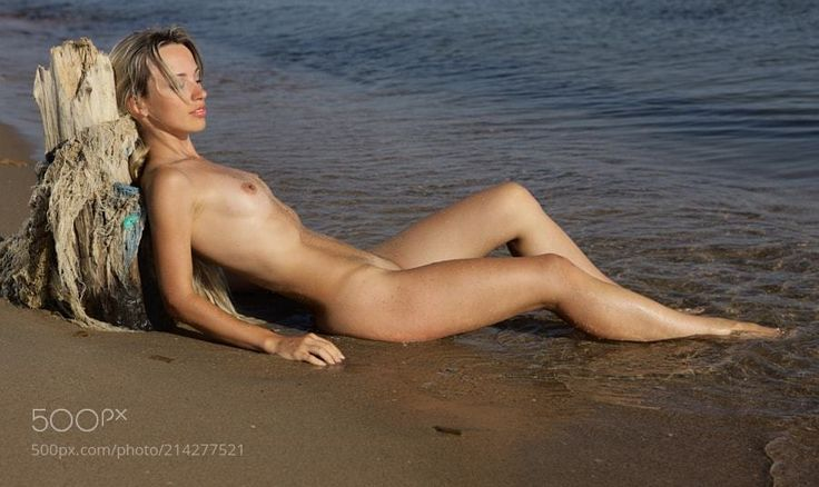 "half-moon-at-matlock: "" ""The naked girl on the beach"" Photo by Alexander LOBANOV Original Photo """