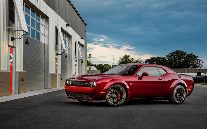 تحميل خلفيات السيارات الأمريكية, دودج تشالنجر SRT Hellcat, 2017 السيارات, شيلت, دودج