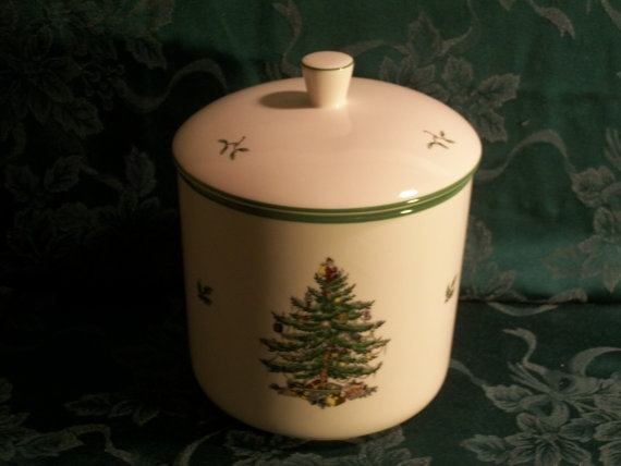 Vintage spode christmas tree cookie jar by tkspringthings on etsy 49
